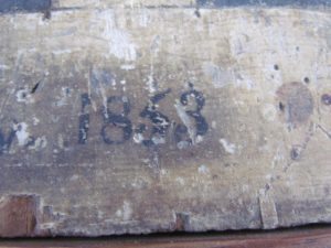 dated 1853 checkerboard