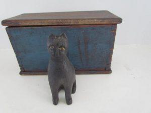 carved black cat