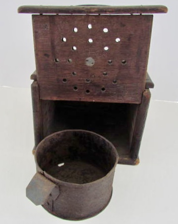 Pilgrim Period Foot Warmer Art Antiques Michigan